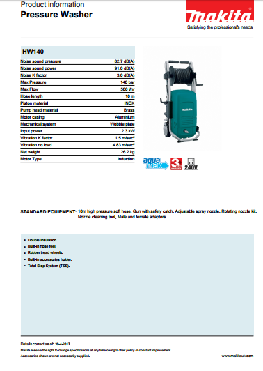 Pressure Washer Brochure
