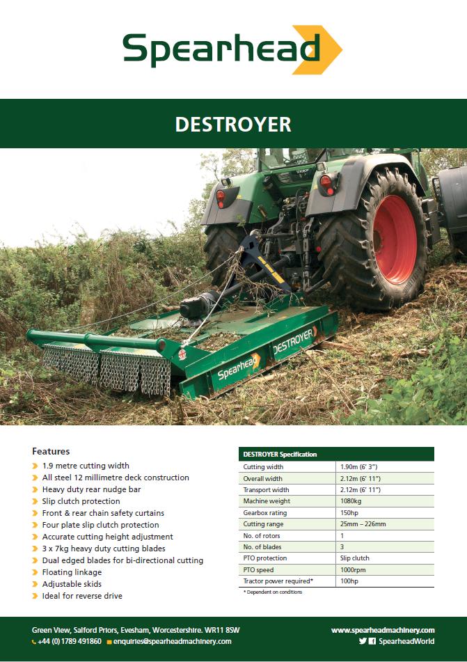 InfoSheet - Destroyer Brochure