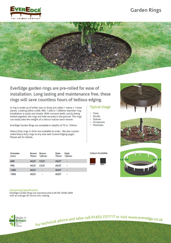 Everedge Garden Rings Brochure
