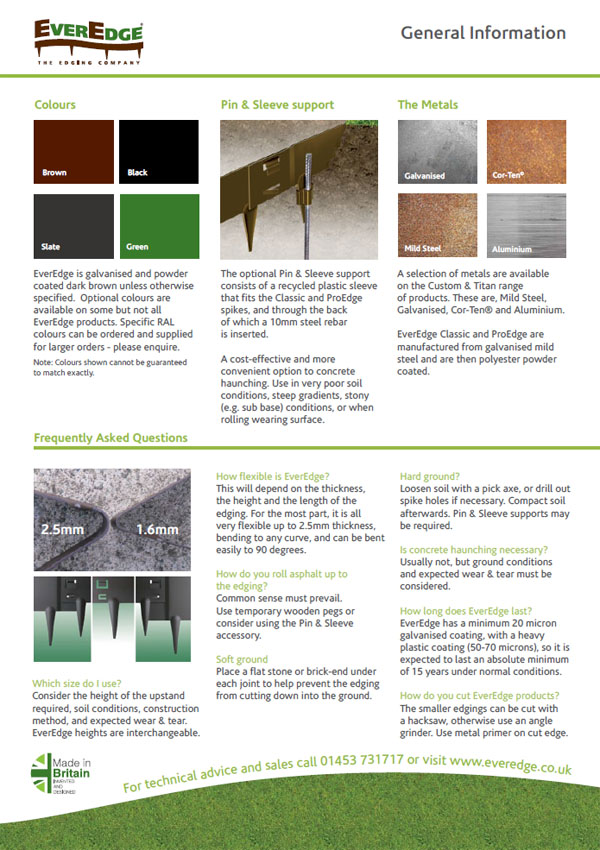 Everedge General Information Brochure
