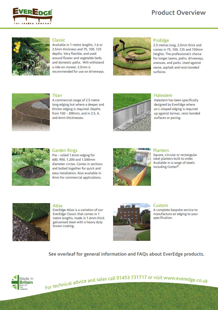 Everedge Product Overview 2017 Brochure
