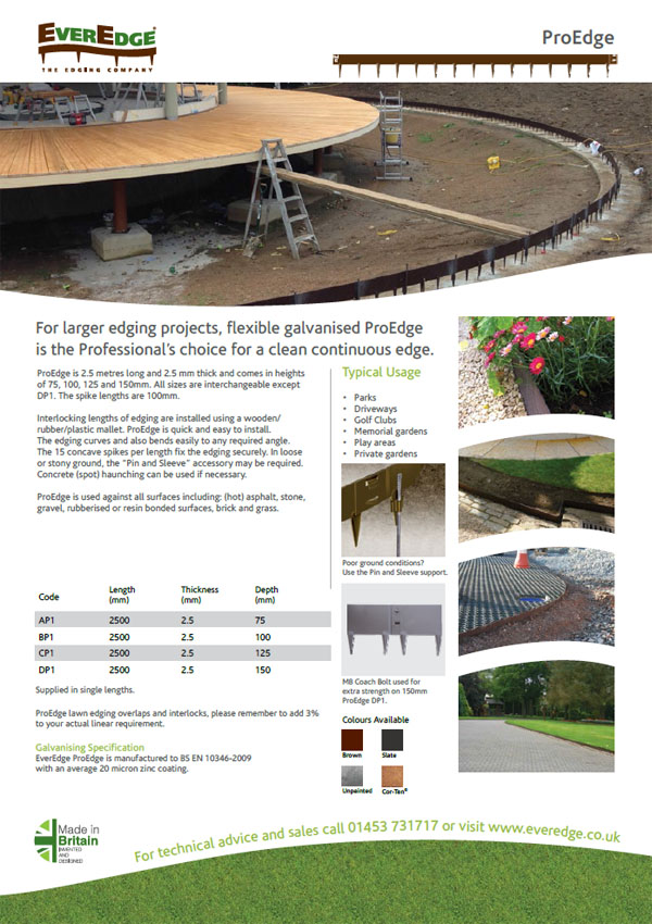 Everedge Pro Edge Brochure