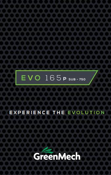 EVO 165P 'Sub-750'  Brochure