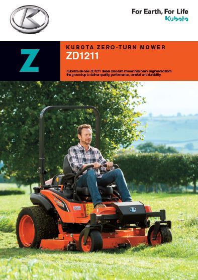 KUBOTA ZERO-TURN MOWER ZD1211 Brochure