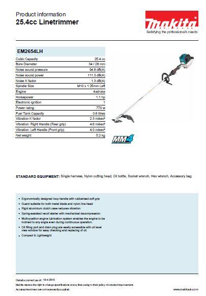 25.4cc Linetrimmer Brochure