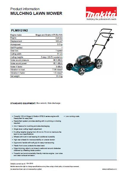 Mulching Lawn Mower Brochure