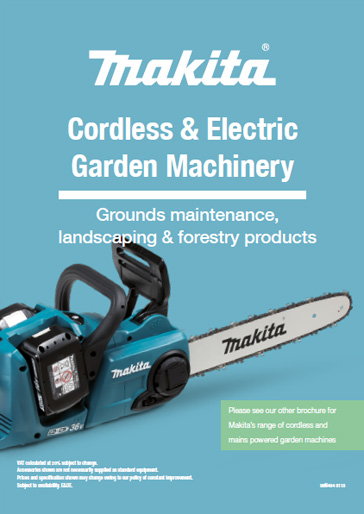 Cordless & Electric Garden Machinery Brochure