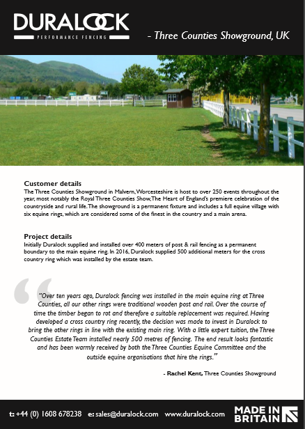 Three counties Showground- Case Study Brochure