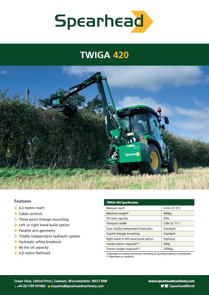 InfoSheet - Twiga 420 Brochure