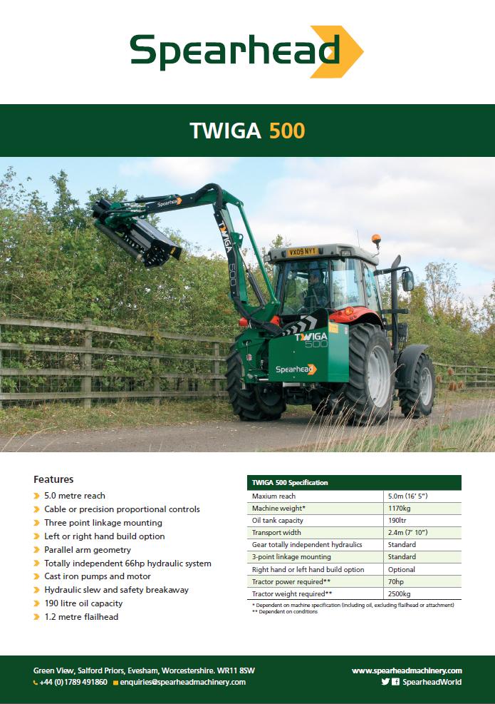 Infosheet - Twiga 500 Brochure