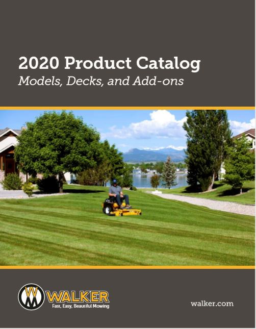 Walker Mowers Product Catalogue Brochure