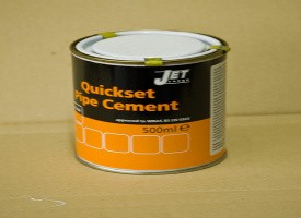 0.5 litre PVC Quickset Pipe Cement