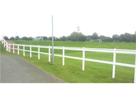Moveable Post and Rail Barrier