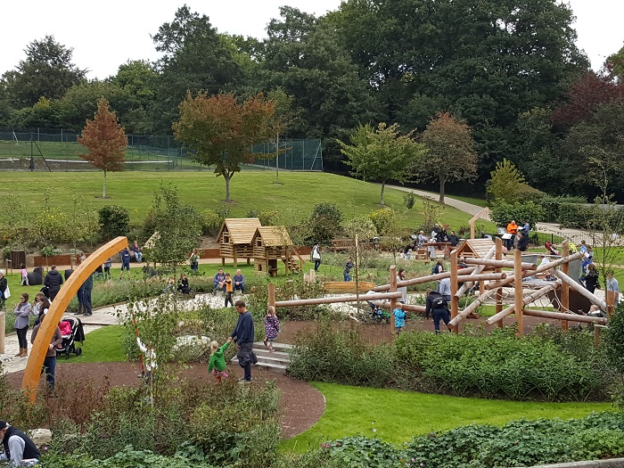 Disused bowling green transformed to vibrant adventure play area