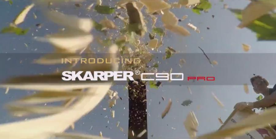 1 SKARPER® C90 PRO - professional compact wood chipper professioneller kompakter Holzhäcksler