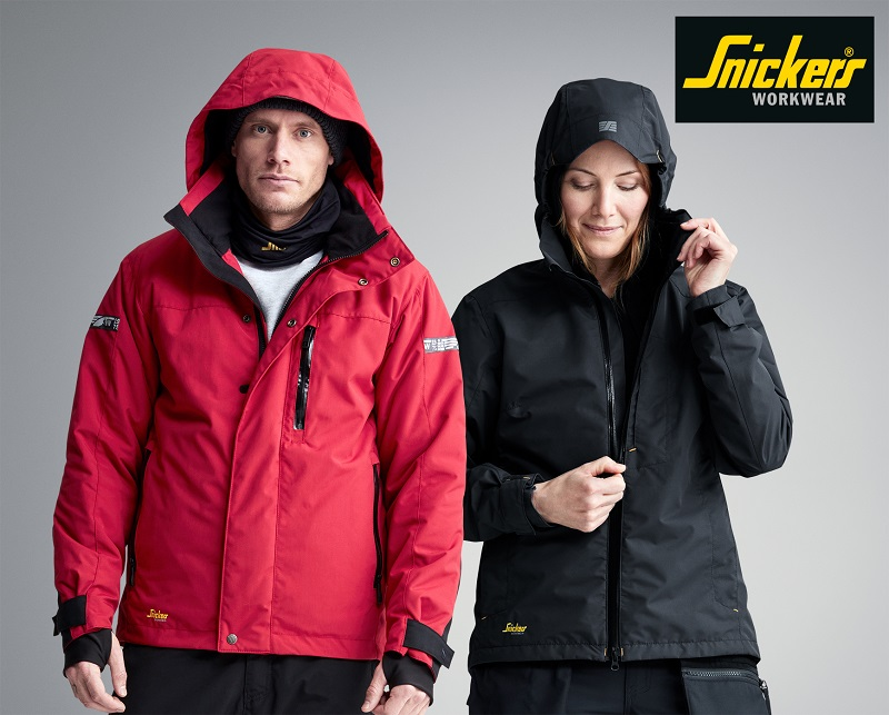 Snickers new waterproof jackets will keep you warm and dry