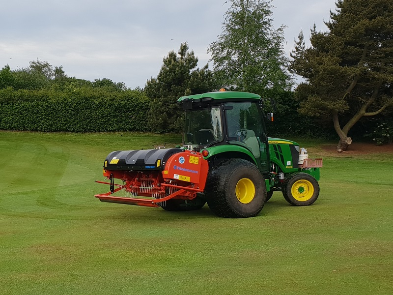 Wiedenmann GXi8 at Lymm GC does 21 greens in a day