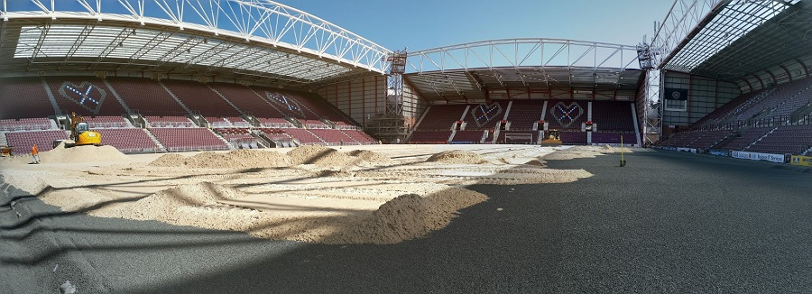 Aggregate Industries scores a home win for Hearts