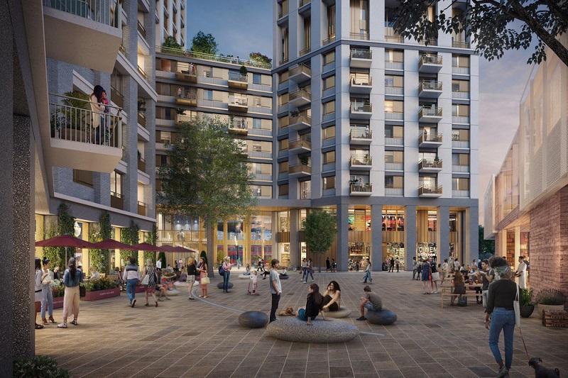 Redevelopment plan features landscape design by Grant Associates