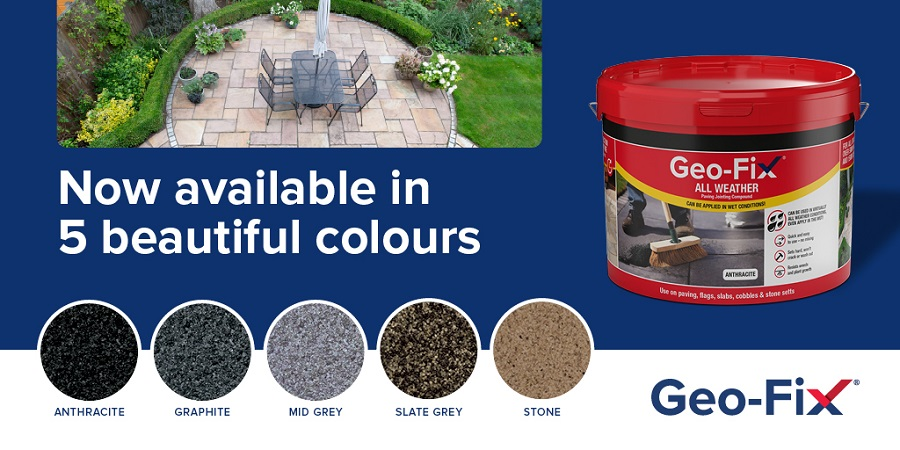 Transform your patio and driveway with Geo-Fix new colour range