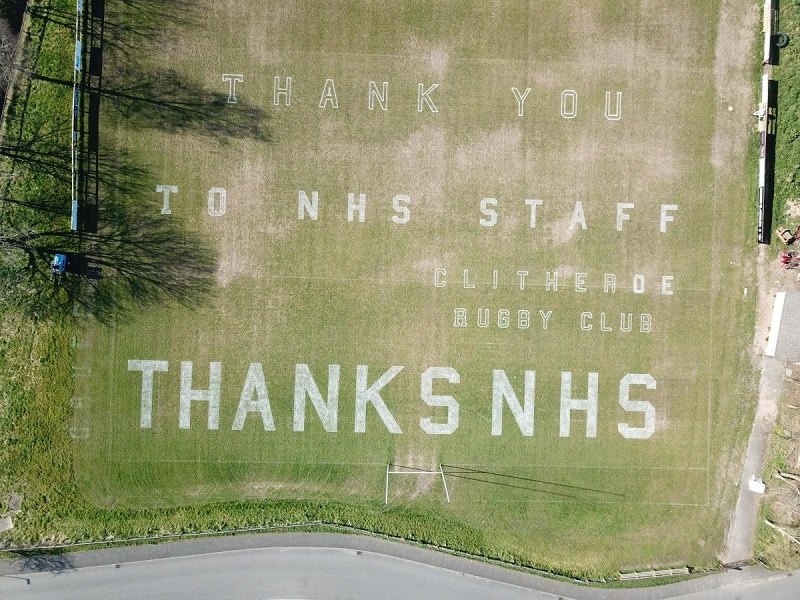 Lining up to thank the NHS