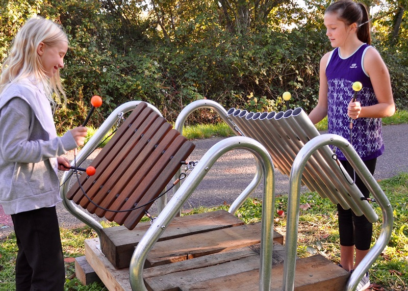 Outdoor musical instruments  - in tune with nature