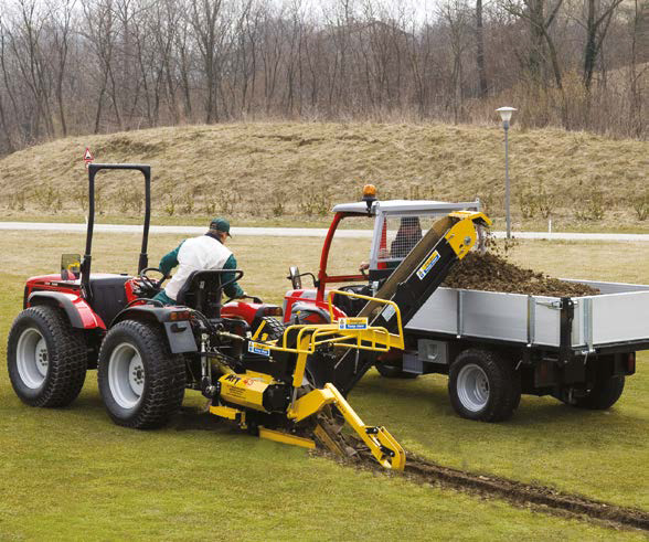 AFT Trenchers designed to work on sports and amenity surfaces
