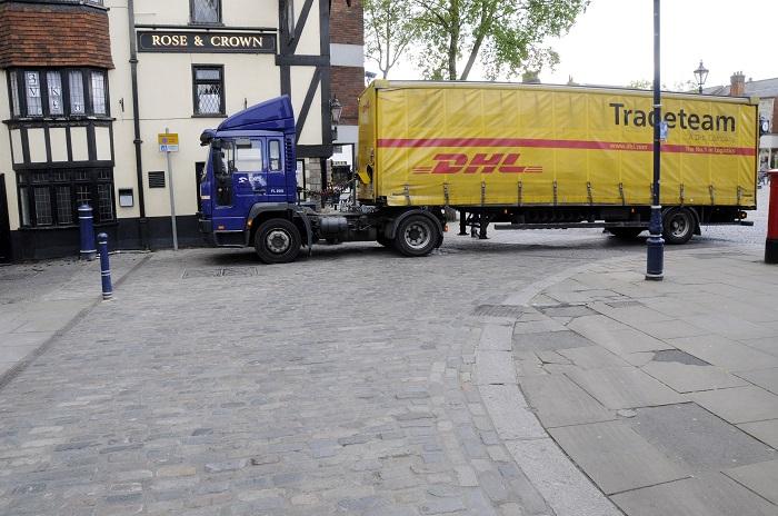 Granite paving upgraded for modern street demands