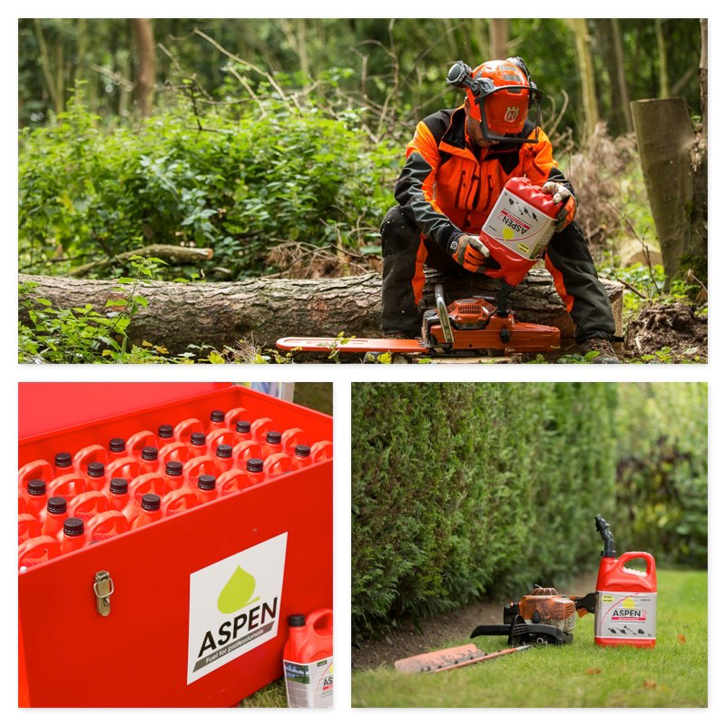 Work smarter and safer with garden power tools by switching to Aspen Alkylate Petrol