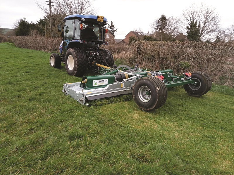 Major wide mowing with 50HP