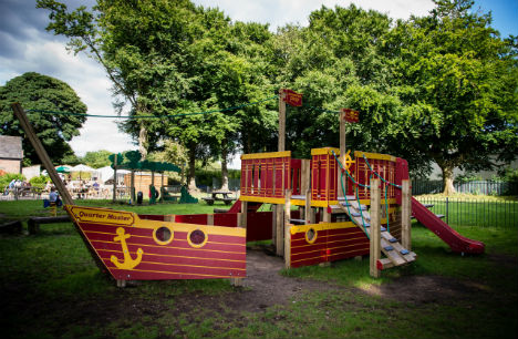 New playground pirate ship scores highly with young footballers