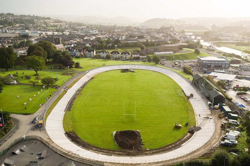 GD Harries creates the UK's first concrete velodrome