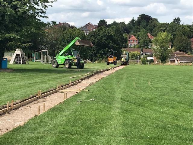 School opens new artificial grass running track for pupils