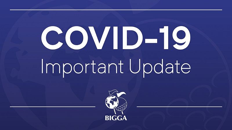 Important update regarding golf course maintenance in relation to latest UK lockdown measures