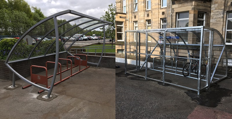 NHS installs trio of secure cycle parking facilities