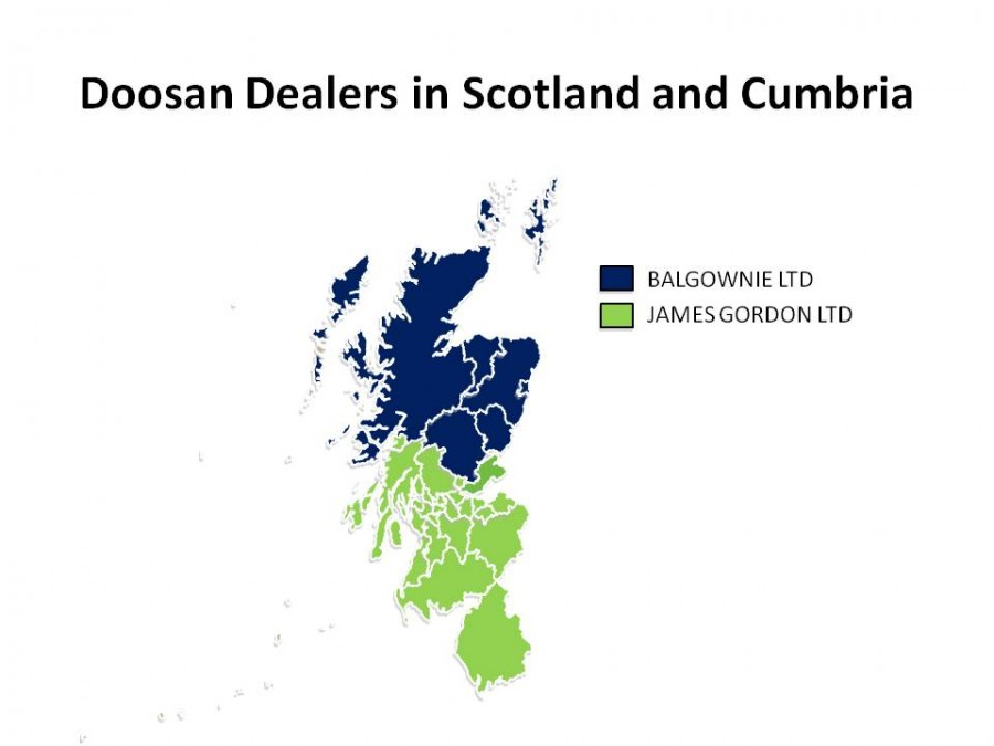 Doosan dealer area changes in Scotland Central Belt