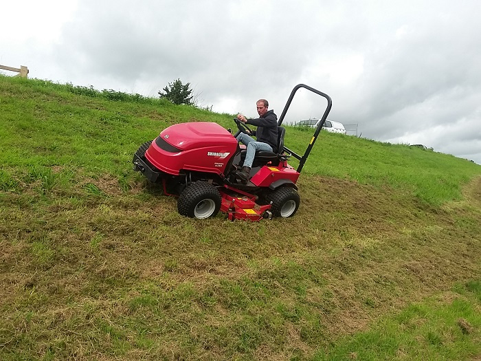 Shibaura slope mower in a class of its own