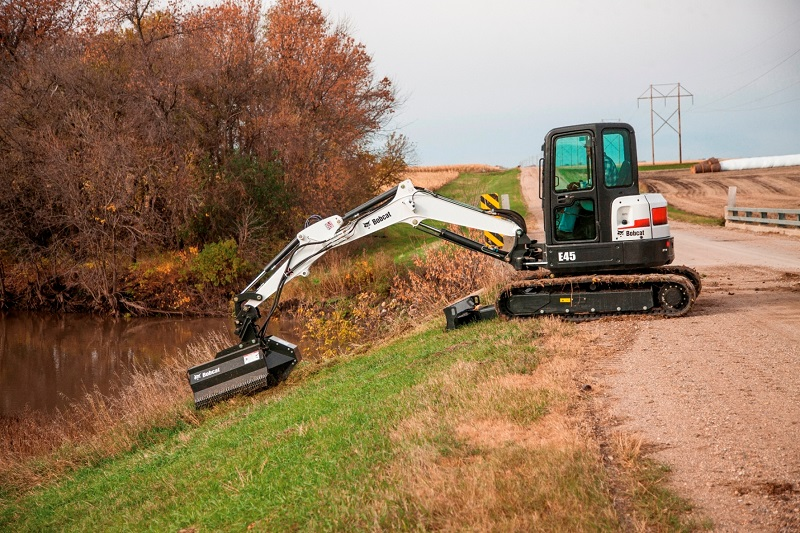 New flail mower attachments for Bobcat excavators