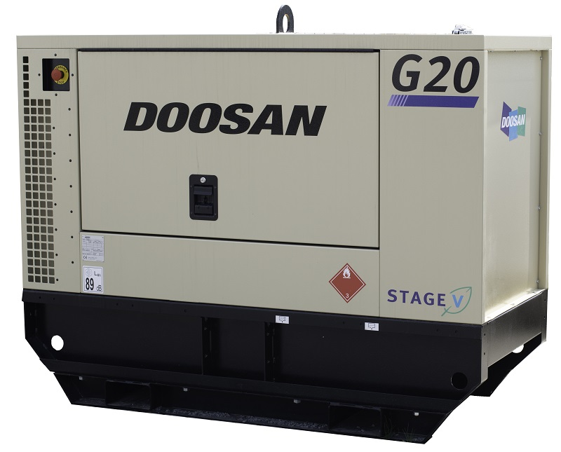 New G20 Stage V generator from Doosan Portable Power