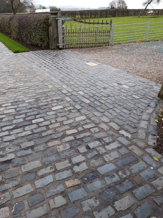 Repointing works for granite sett driveway