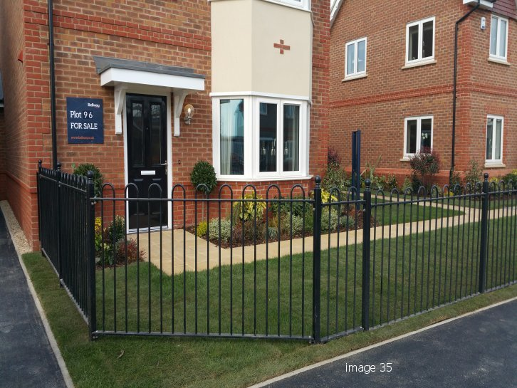 How metal railings differentiate a housing development marketing suite