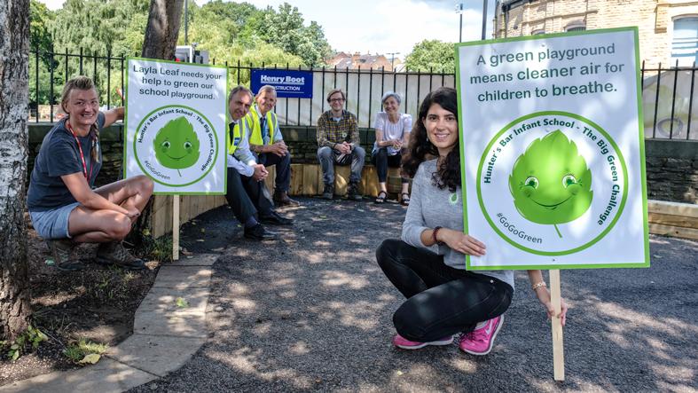 Green pollution barrier breaks ground