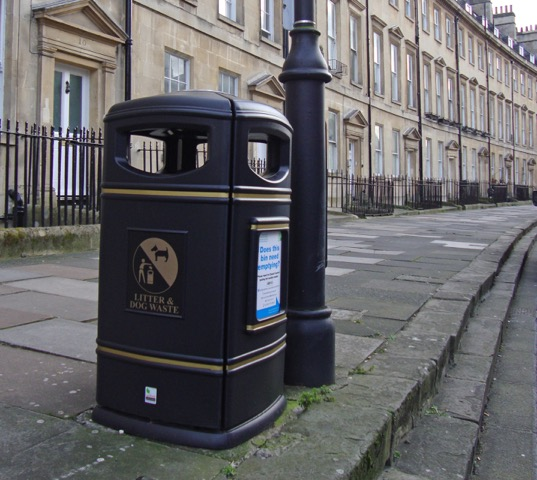 Heritage litter bin boasts integral fire extinguisher