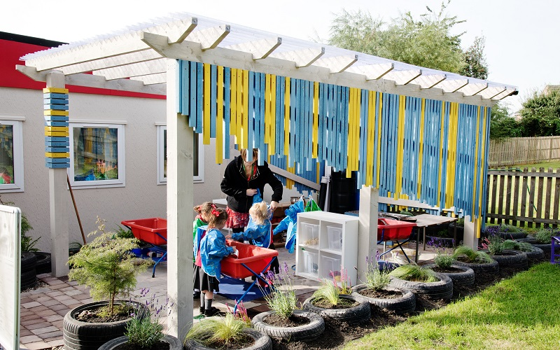 Johnsons helps create an outdoor learning area