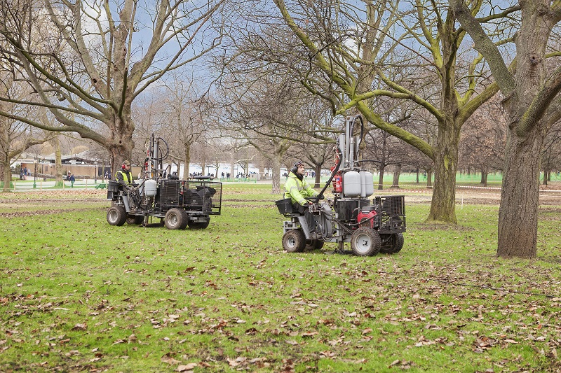 Terrain Aeration has provided soil decompaction services at Hyde Park