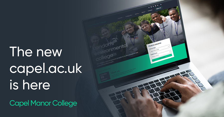 Capel Manor College launches new brand identity and website