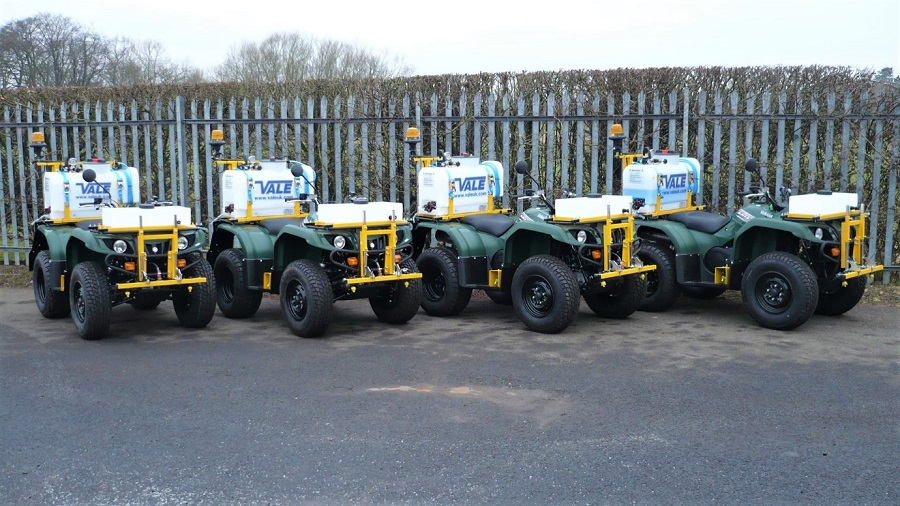 VALE ATV weed spraying system saves time, staff resources and money