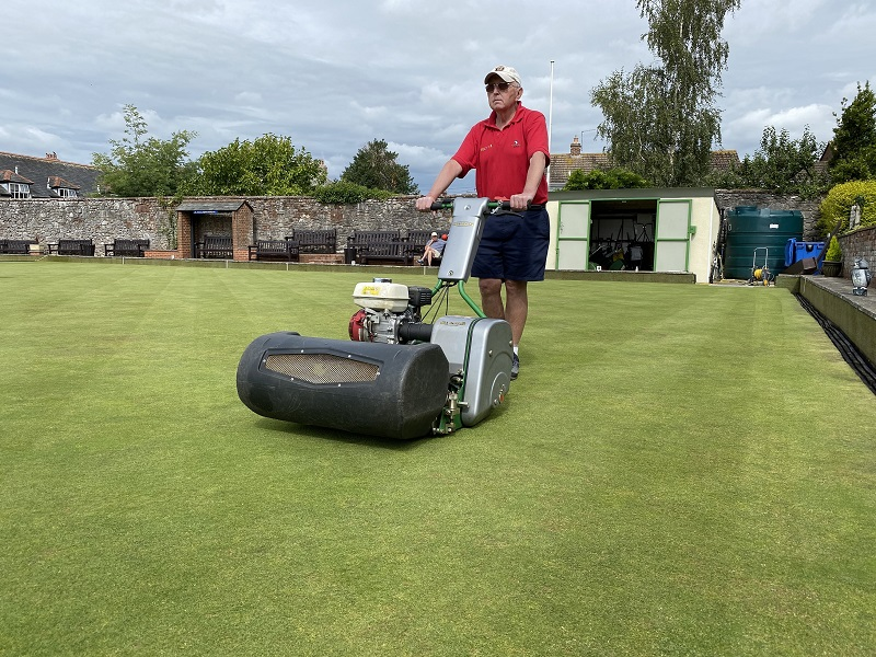 Dennis Mowers - keeping up appearances at Topsham BC