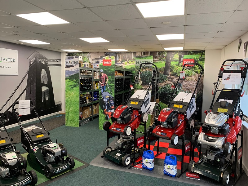 AJ Mowers revamps showroom with the help of Toro and Hayter