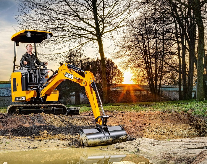 JCB mini digger is perfect for ground works